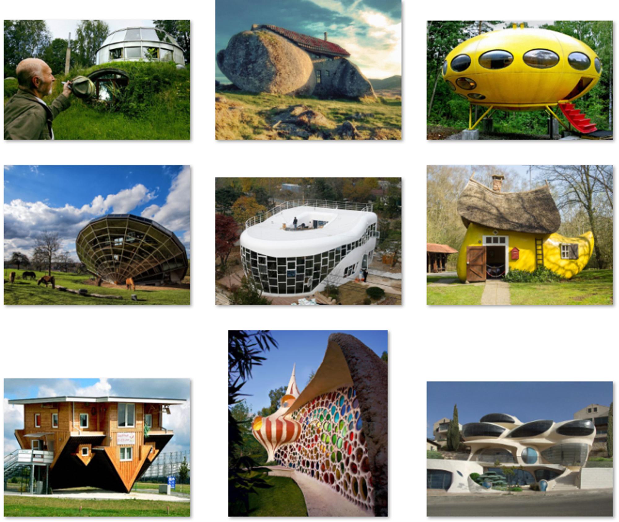 Tổng hợp những ngôi nhà chỉ dành cho những người giàu trí tưởng tượng