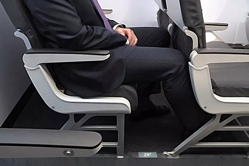 피치 29인치 좌석