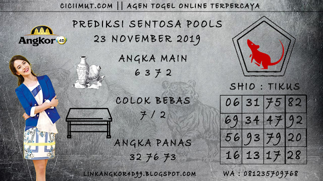 PREDIKSI SENTOSA POOLS 23 NOVEMBER 2019