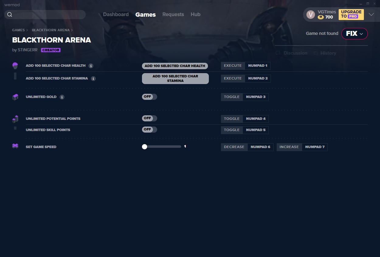 Blackthorn Arena: Trainer (+6) from 01/14/2021 [WeMod]