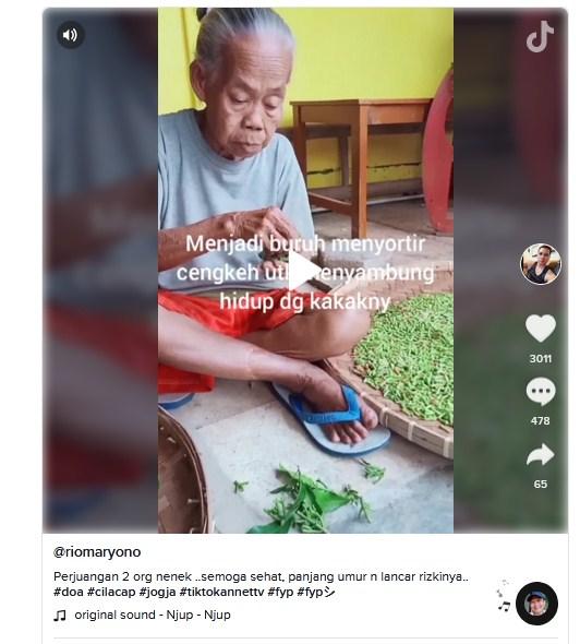 Viral Kisah Lansia Penyortir Cengkeh, Cuma Diupah Rp 1.000 per Kilogram