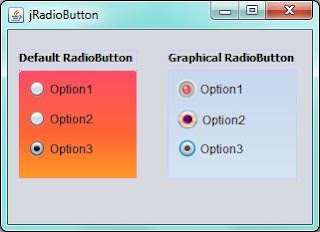 Different look of jRadiobutton