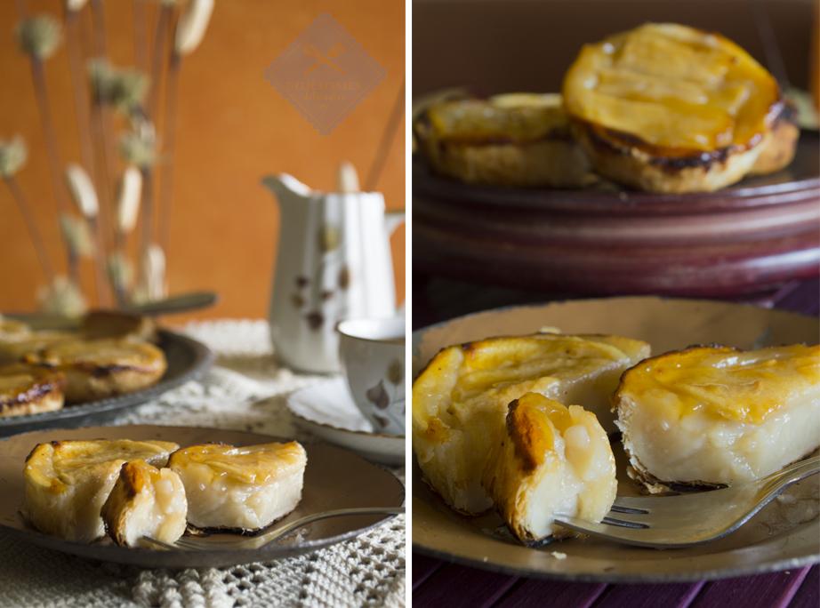 tartaletas de pera y crema pastelera vegana