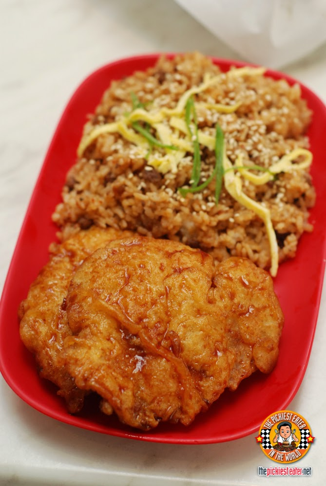 chicken chop and Seoul fried rice