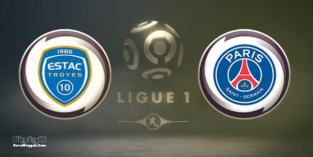 نتيجة مباراة تروا وباريس سان جيرمان بتاريخ 07-08-2021 في الدوري الفرنسي