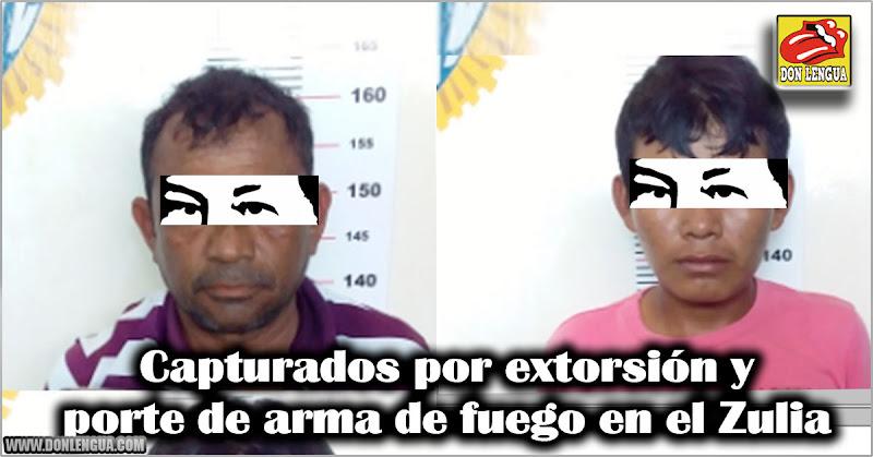 Capturados por extorsión y porte de arma de fuego en el Zulia