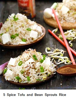5 Spice Tofu and Bean Sprouts Rice