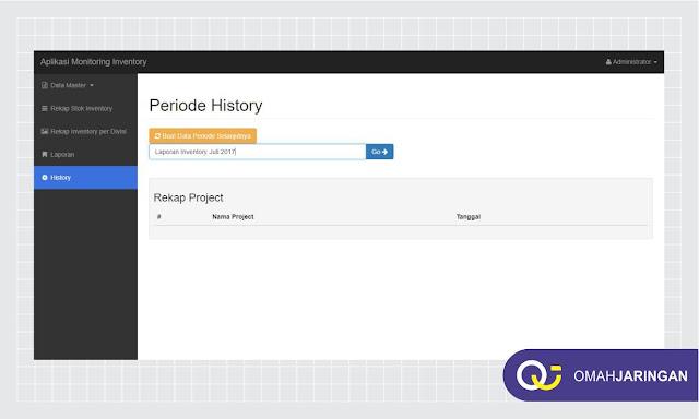 Fitur Periode Histori Penyimpanan Review Aplikasi Inventory Barang Berbasis Web Php, MySQL dan Codeigniter