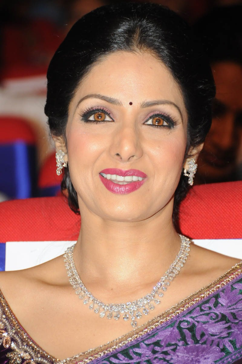 Sri Devi Latest Photos In Blue Saree