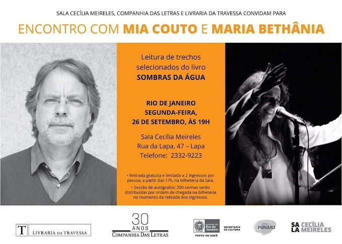 Bethânia vai recitar poesias no lançamento do livro de Mia Couto no Rio