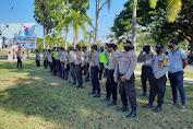 Puluhan Poresonil Amankan Demo Penolakan Tambang Di Taliwang