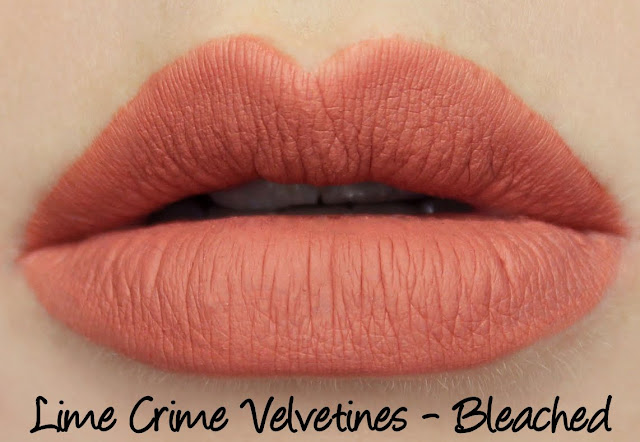 Lime Crime Velvetines - Bleached Swatches & Review