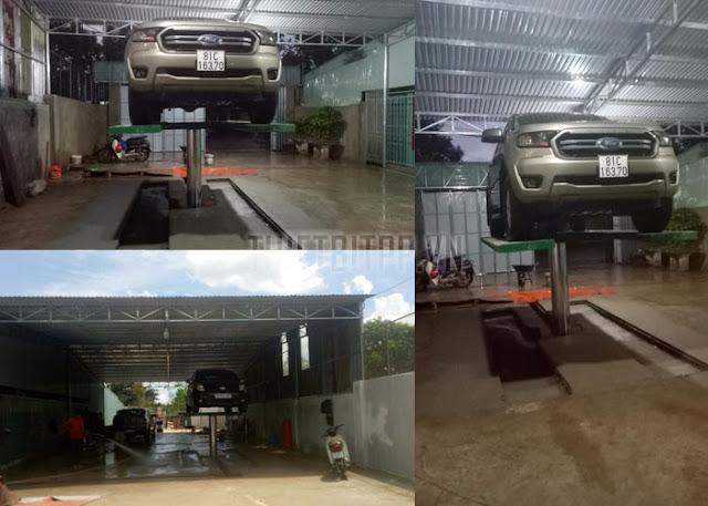 cầu nâng rửa xe loại tốt, cầu nâng 1 trụ rửa xe ô tô, cầu nâng trụ rửa xe