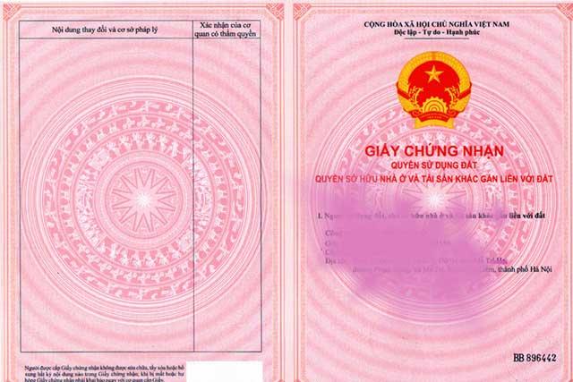 Hình ảnh minh hoa sổ đỏ tại Việt Nam