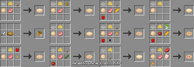 PizzaCraft - Algumas Receitas