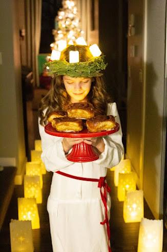 A-girl-in-Swedish-costume-celebrating-Santa-Lucia-day