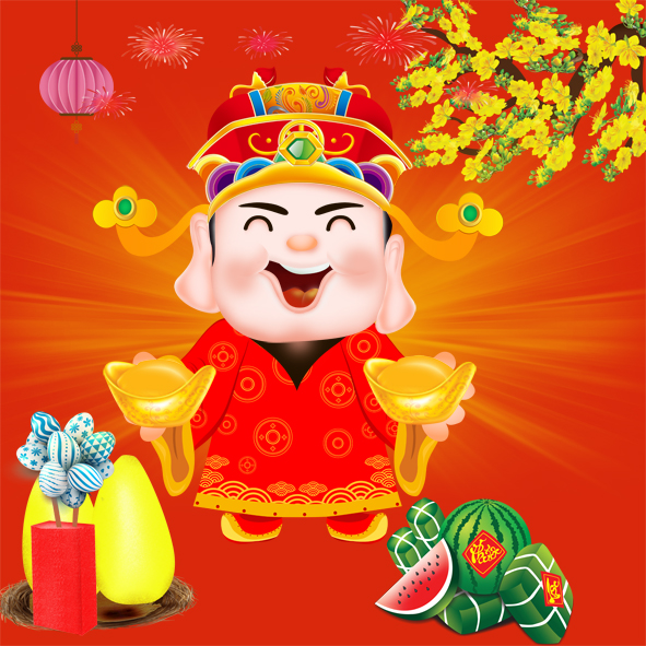 Chinese god wealth and rat vector image
