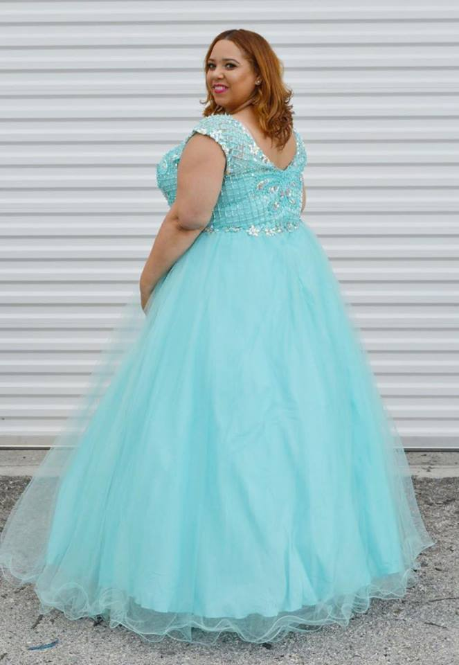 OOTD: Aqua Prom Dress featuring Tease Prom by Sydney's Closet ...