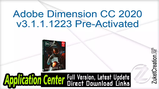 Adobe Dimension CC 2020 v3.1.1.1223 Pre-Activated