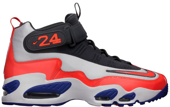 online store 2f833 9c76f Nike Air Griffey Max 1 White Total Crimson-Hyper Blue-White Release Reminder