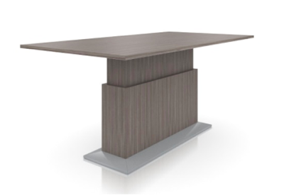 lugano height adjustable conference table