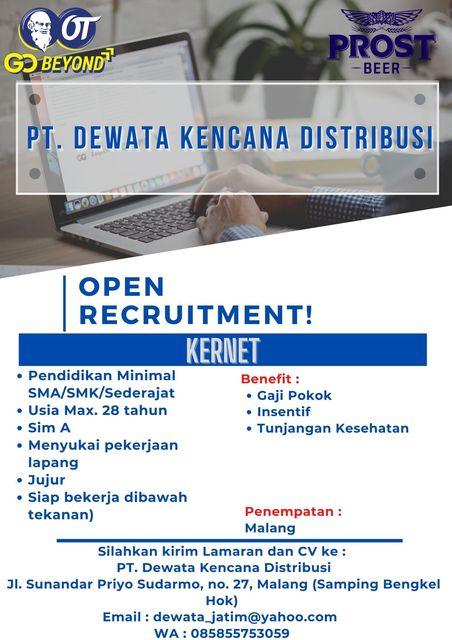 Loker Malang Terbaru PT. Dewata Kencana Distribusi