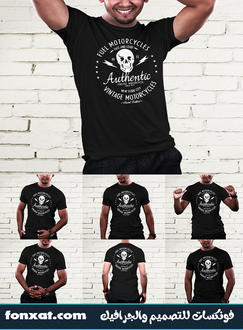 download mockup t shirt photoshop black