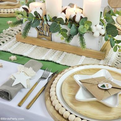 Neutral Farmhouse Christmas Tablescape with Easy DIY Décor