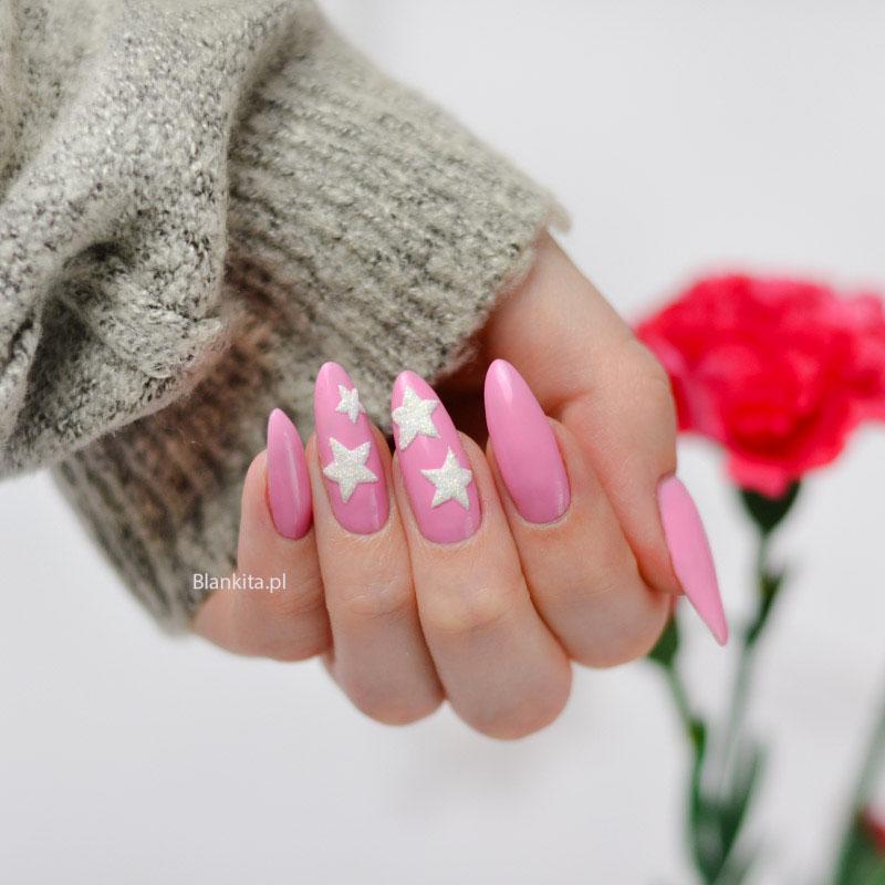 gwiazdy na paznokciach, gwiazdki, lakier hybrydowy. born pretty, pink series, rozowa hybryda, chinska hybryda
