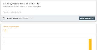 Cara Memperbaiki Peringatan Diindeks Meski Diblokir Oleh Robots.txt Di Search Console