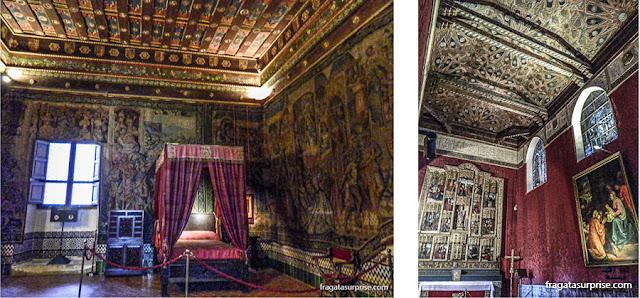 O dormitório de Isabel de Castela e a capela da rainha, no Alcázar de Segóvia
