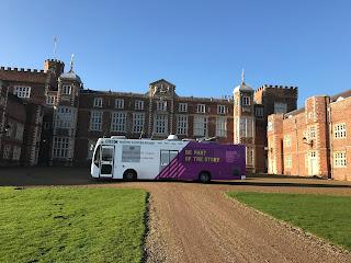 BBC Humbersdie's bus at burton constable hall
