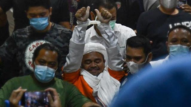 Habib Rizieq Resmi Ditahan Hingga 20 Hari Kedepan Di Rutan Polda Dires Narkoba