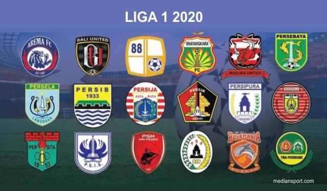 Daftar Logo Resmi 18 Klub Peserta Liga 1 2020