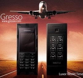 Gresso Luxor World Time luxury phone comes with a world time function