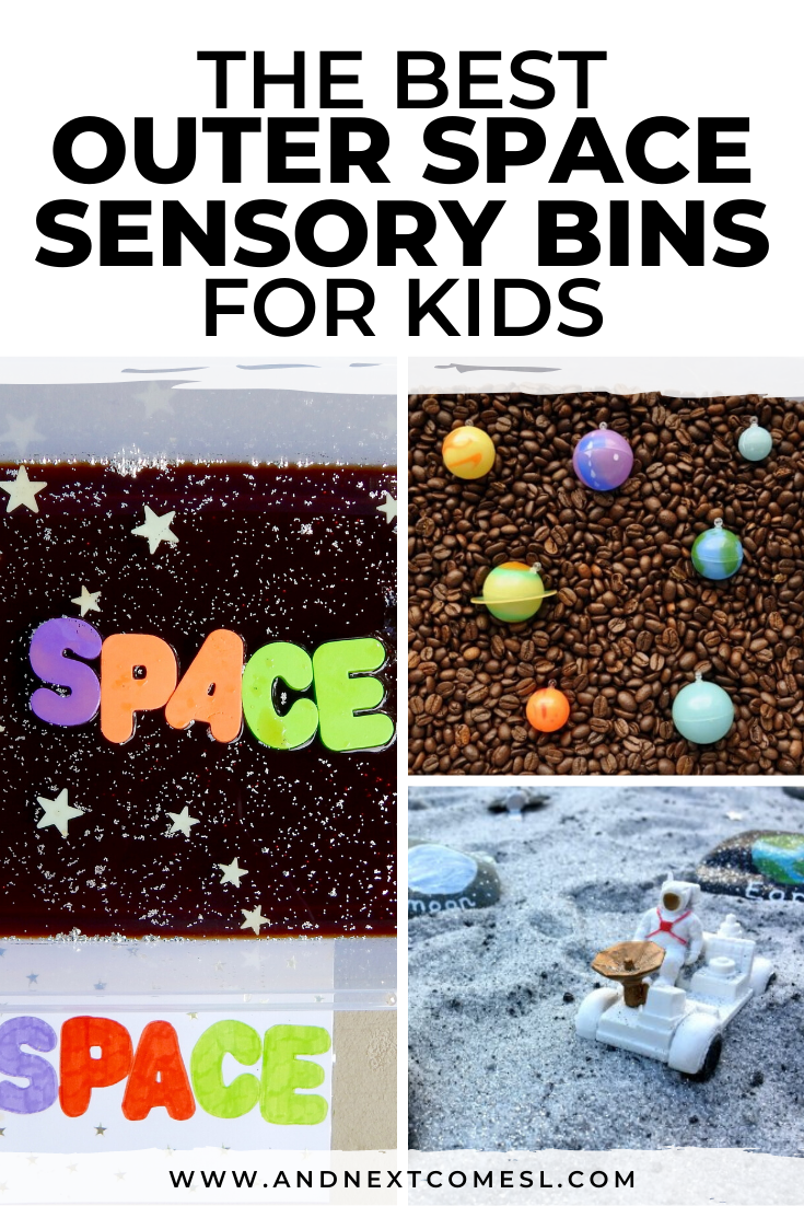 Looking for outer space sensory bins for toddlers or preschoolers? Try these fun space sensory bin activities!