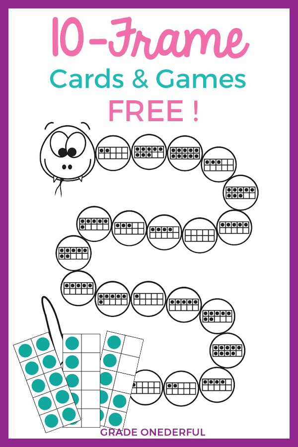 Some fabulous and free activities for learning about 10-frames in Kindergarten and 1st Grade!