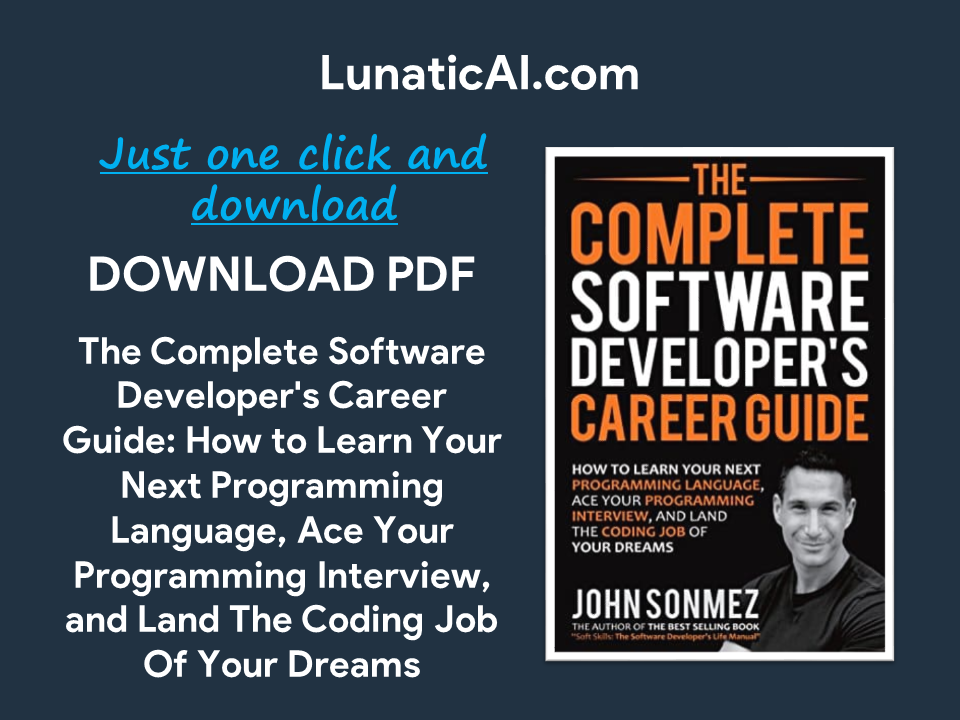 the complete software developers career guide pdf github