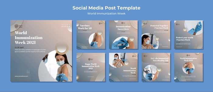 World Immunization Week Social Media Posts