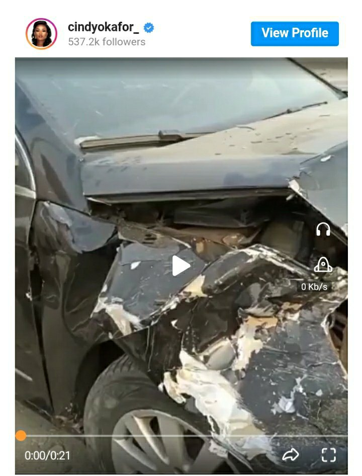 BBNaija's Cindy Has A Lot To Thank For After She Survived A Car Accident On Her Birthday