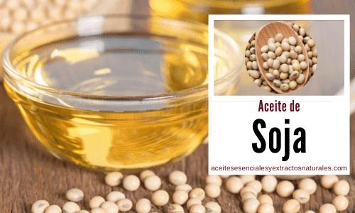 El aceite de soja o Soya, en inglés Soy, es un componente utilizado en muchos productos para la piel y el cabello