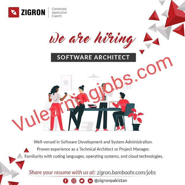 Zigron Inc. Jobs 2020 In Pakistan For Software Architect Latest