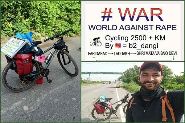 world-against-rape-sumit-dangi-laddakh-from-faridabad-via-cycle
