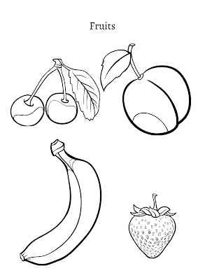 coloring pages of fruits