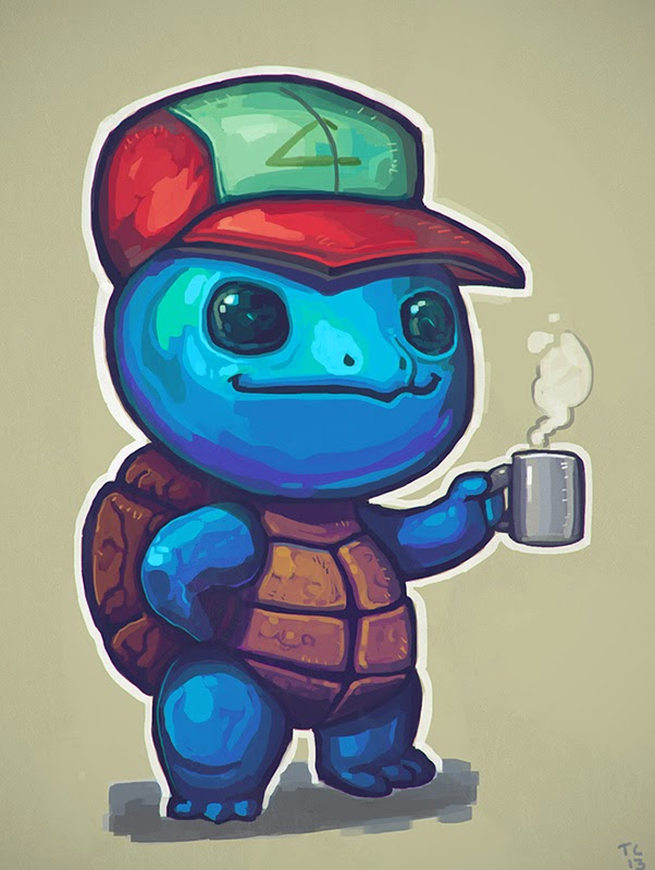 Art of lady t - Derpy squirtle ...