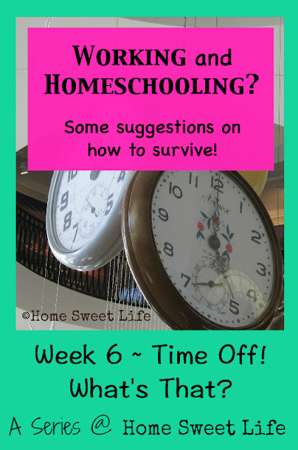 Working and homeschooling, time off