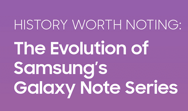 History Worth Noting: The Evolution Of Samsung's Galaxy Note Series