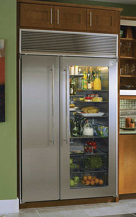 Vignette design tuesday inspiration glass front - Glass door fridge for home ...