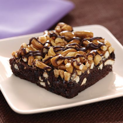 Fudgy Pretzel Brownies