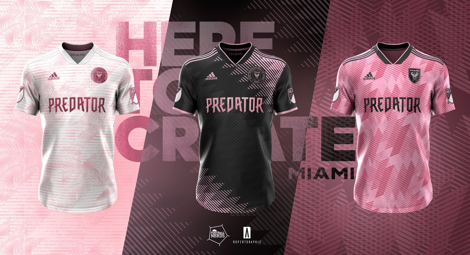 lowest price 99d1e 57df5 3 Stunning Adidas Inter Miami Concept Kits by Rupertgraphic ...
